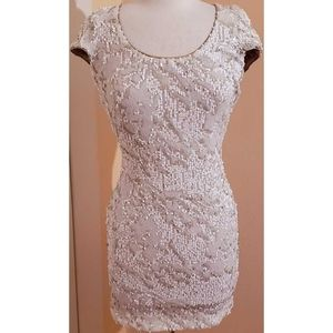 Dress the Population Sequin Cutout Dress